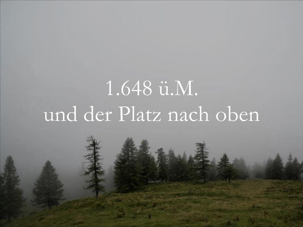 1.648 ü.M. und der Platz nach Oben - Video von Uli Schaub - Vorschaubild