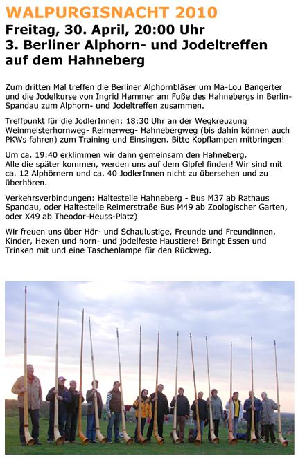 Einladung Alphorntreffen Walpurgis 2010